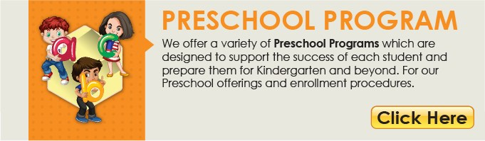 Preschool Program Button linking to resources and enrollment.  This links to another webpage.