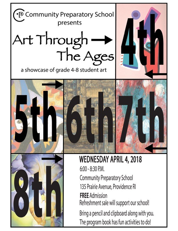 Art Through The Ages -- Community Prep's All-School Art Show on 4/4/18 Featured Photo