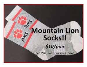 Mountain Lion Socks.  $10/pair.