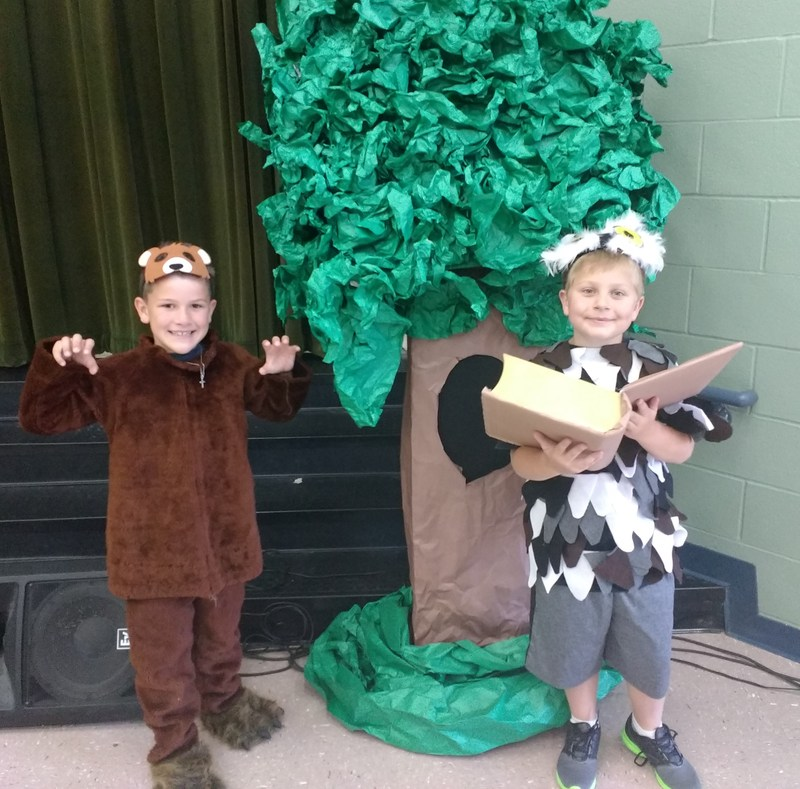 The Bear and the Owl of Cannan's 2nd Grade Program