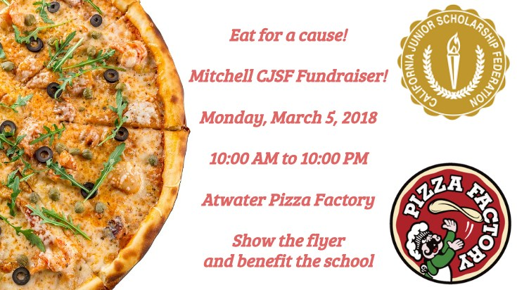 CJSF Fundraiser @ Pizza Factory