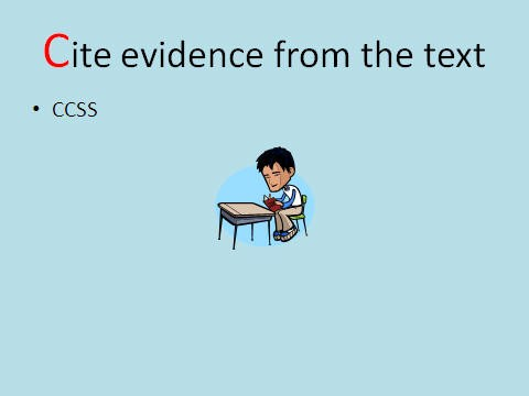 Cite evidence from text