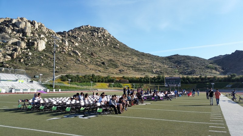 Students at the reclassification ceremony