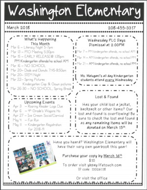 March Newsletter English