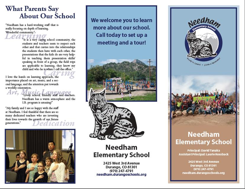 Front of school brochure.
