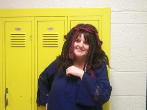 Staff member with crazy hair!