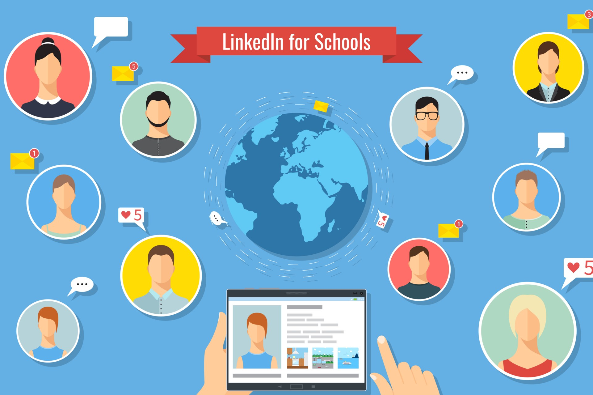 linkedin for school websites
