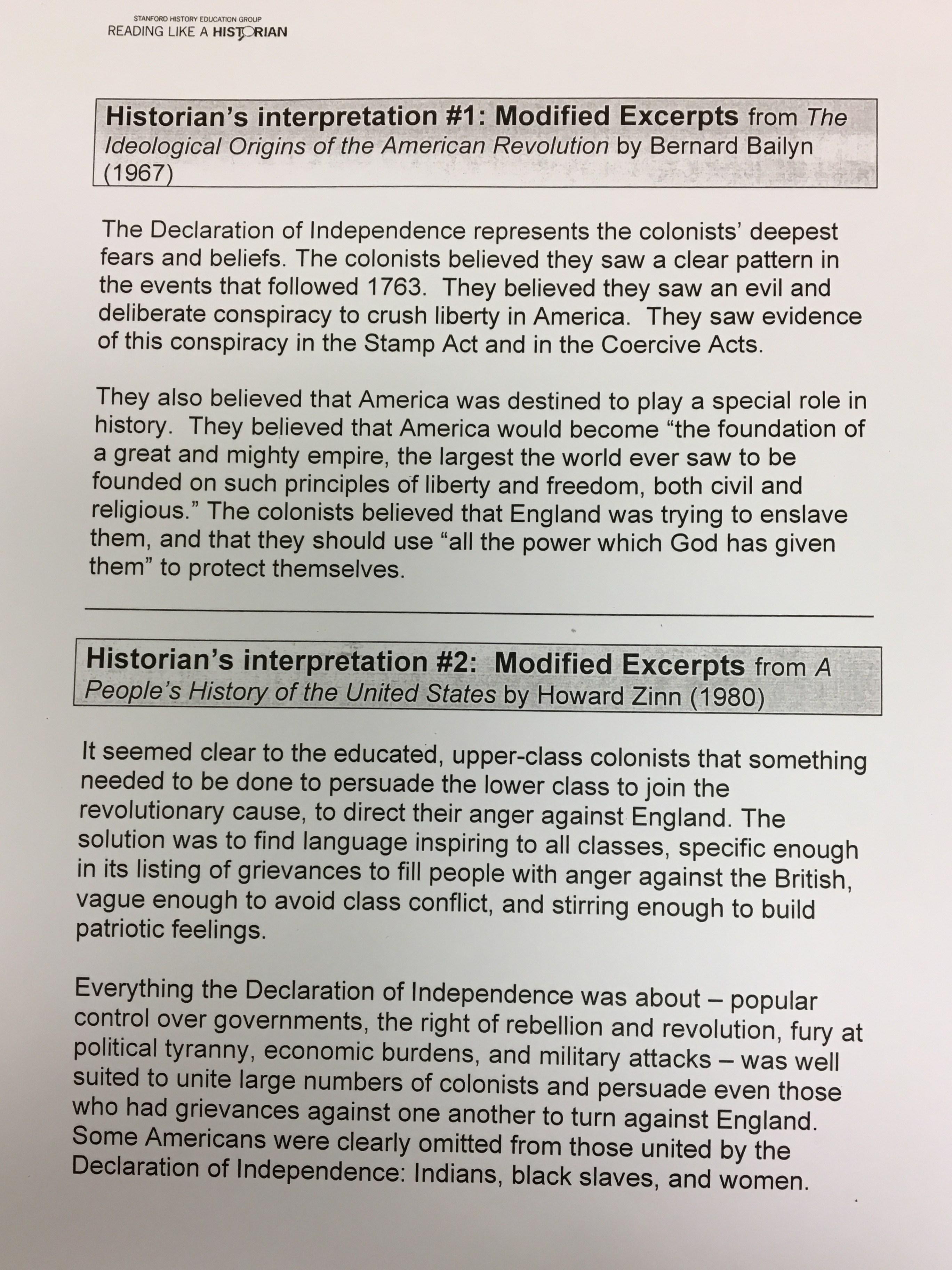 worksheet Declaration Of Independence Grievances Worksheet north park academy of the arts due wednesday october 18