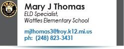 Mary J Thomas email