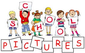 Picture of cartoon kids holding letters spelling School Picture