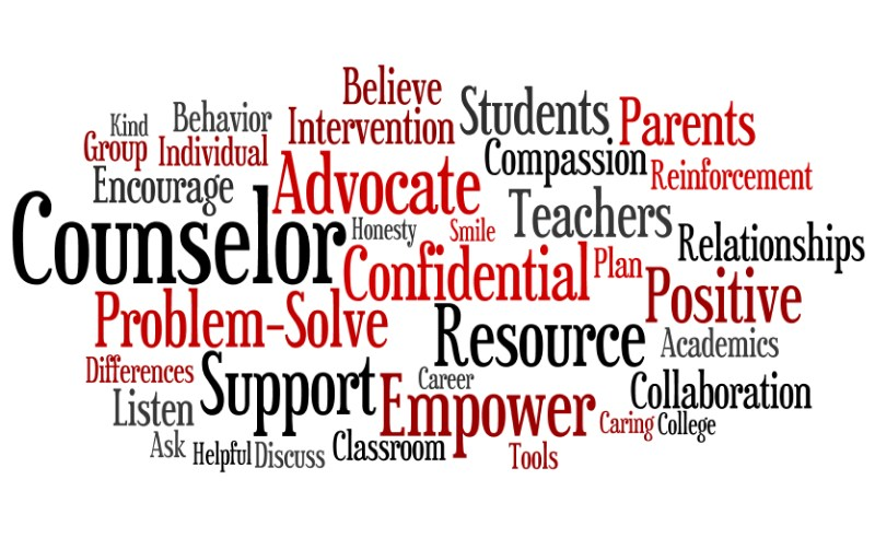 counselor word cloud text