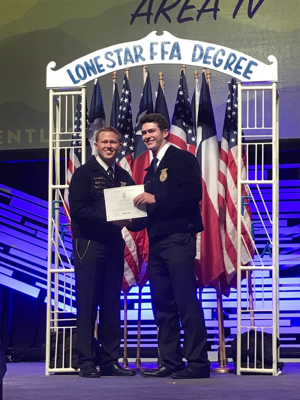 FFA Members Receive Lone Star Degrees Thumbnail Image