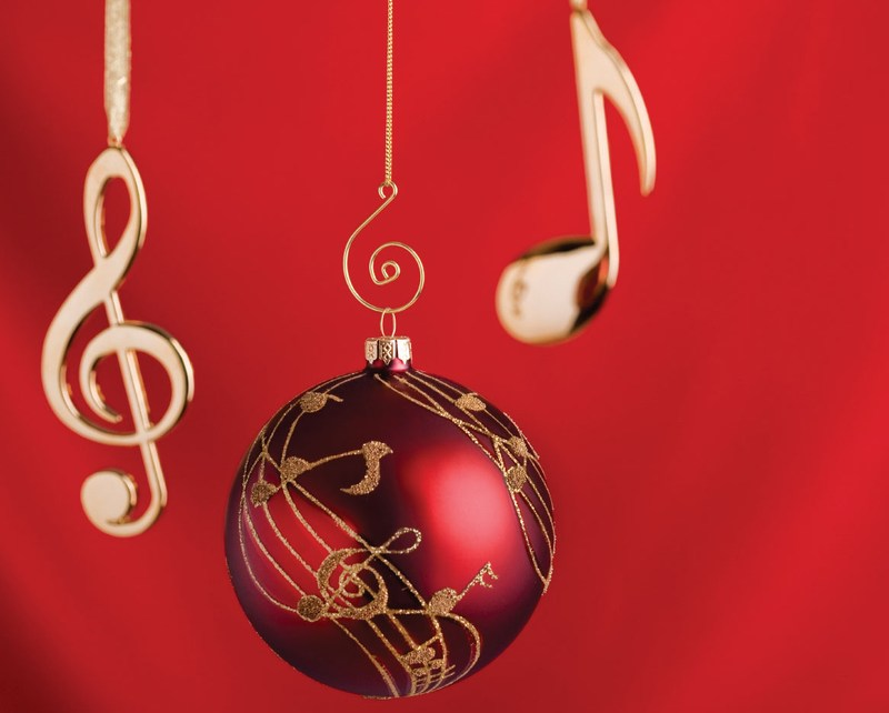 Christmas Ornament with music notes