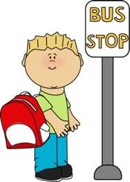 Clip Art of Bus Stop