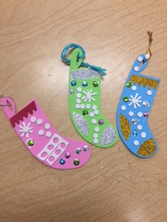 Photo of stocking ornaments.