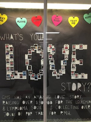 Photo of hallway display case of Month of Love