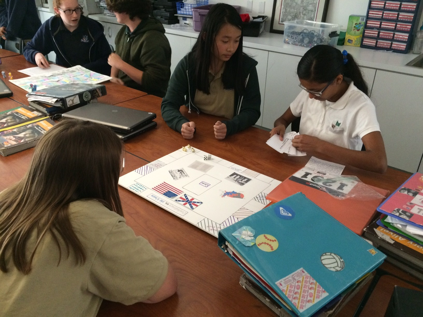 The eighth graders just finished learning about the Reconstruction Period of history following the Civil War.  Students created review games based on those concepts.