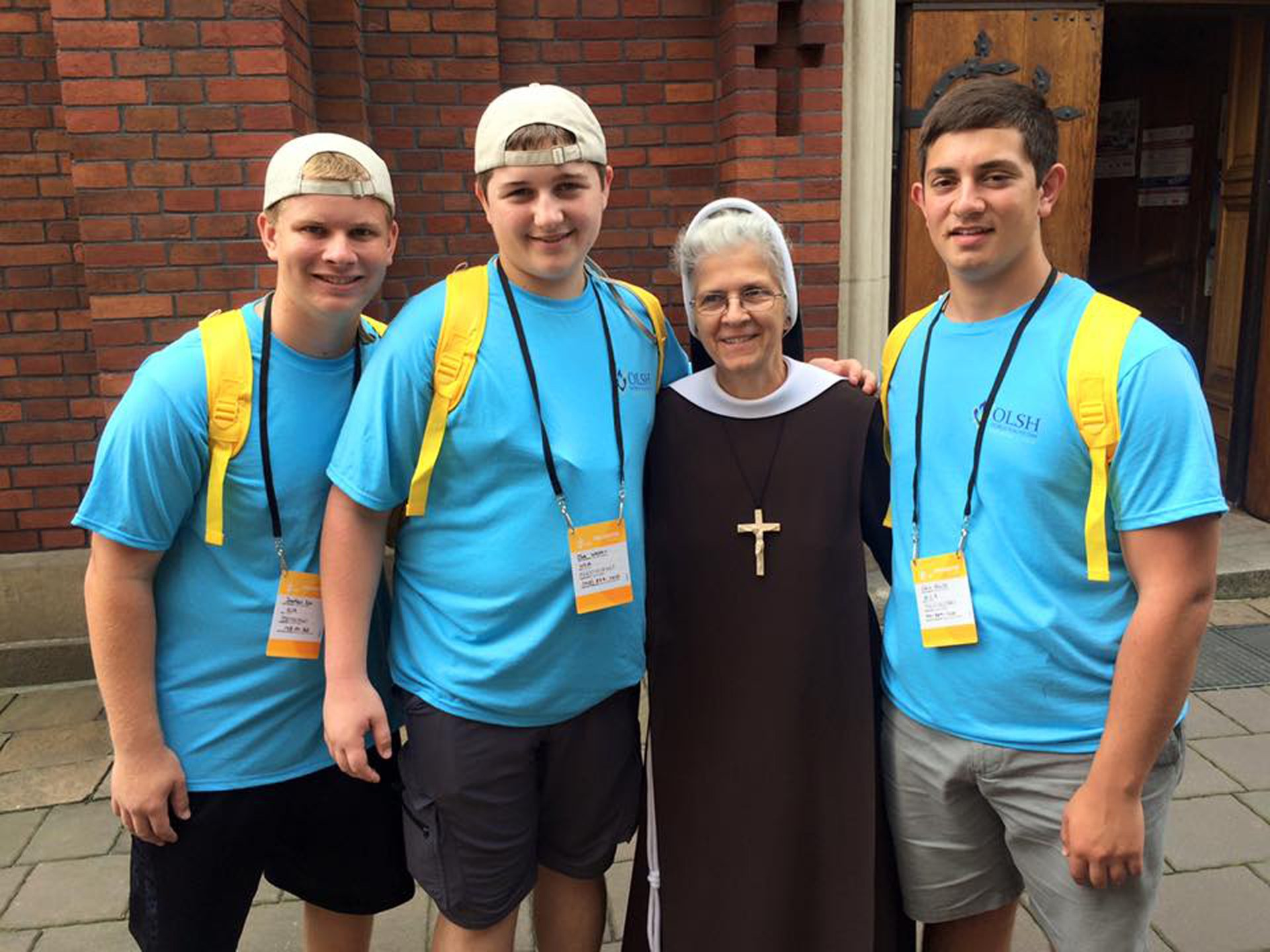 OLSH students with a Felician Sister they met in Poland