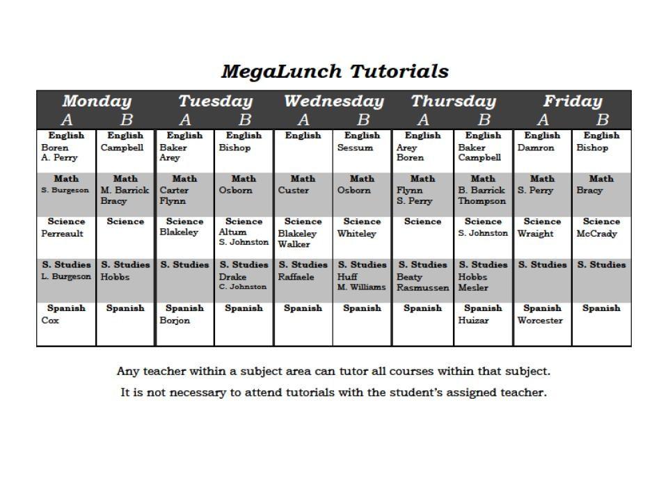 MegaLunch Tutorials