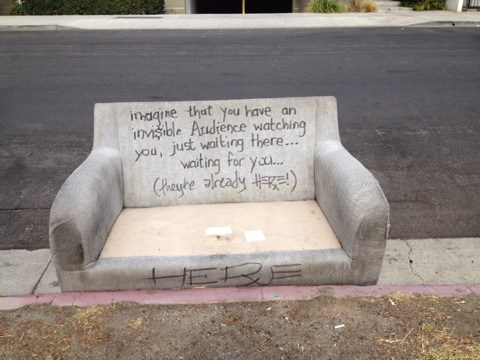 No, this is not my sofa.  I found this in my explorations in West L.A.