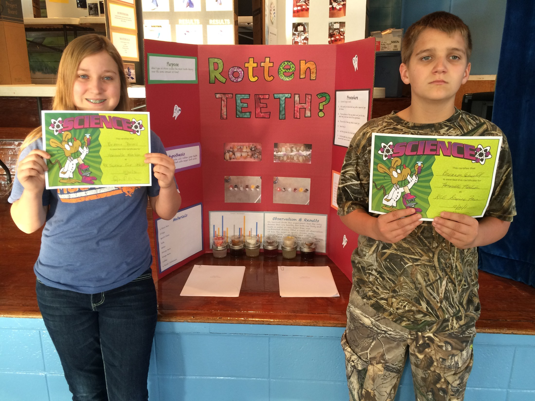 7th Graders Honorable Mentioned in Science Fair