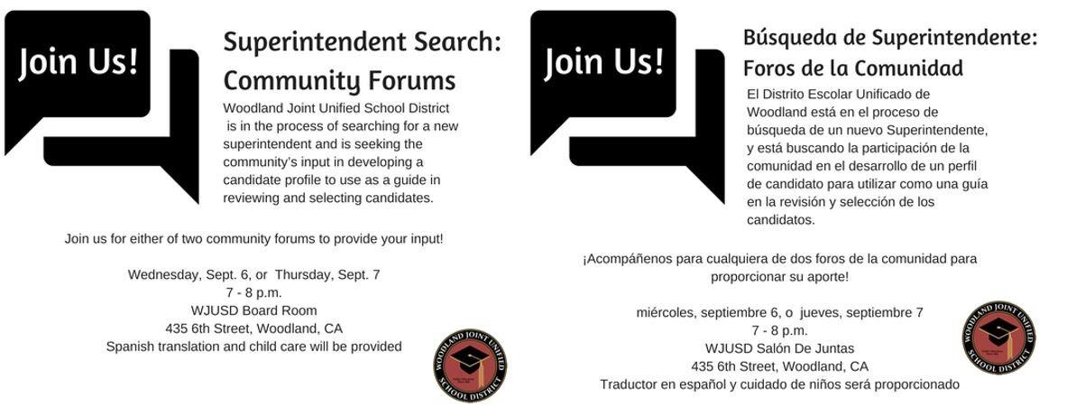 Community Forum Information