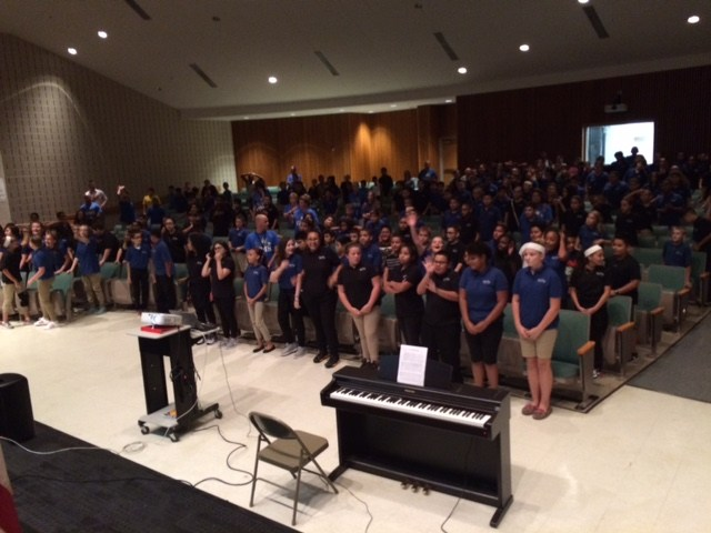 250 Students Participate in Nationwide Sing Along of the National Anthem Thumbnail Image