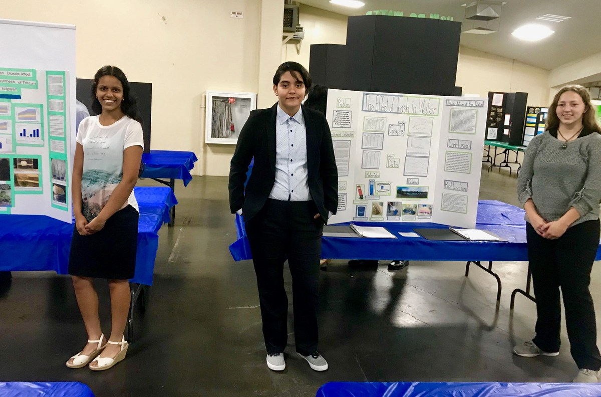 Natasha Bhardwaj, Alondra Villanueva and Julia Mayo Compete in Fresno County Science Fair