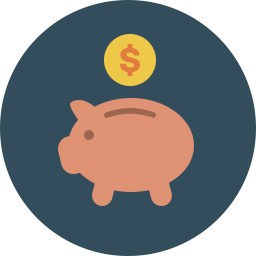 graphic of a piggy bank representing the employee benefits department