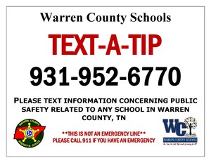 text a tip flyer