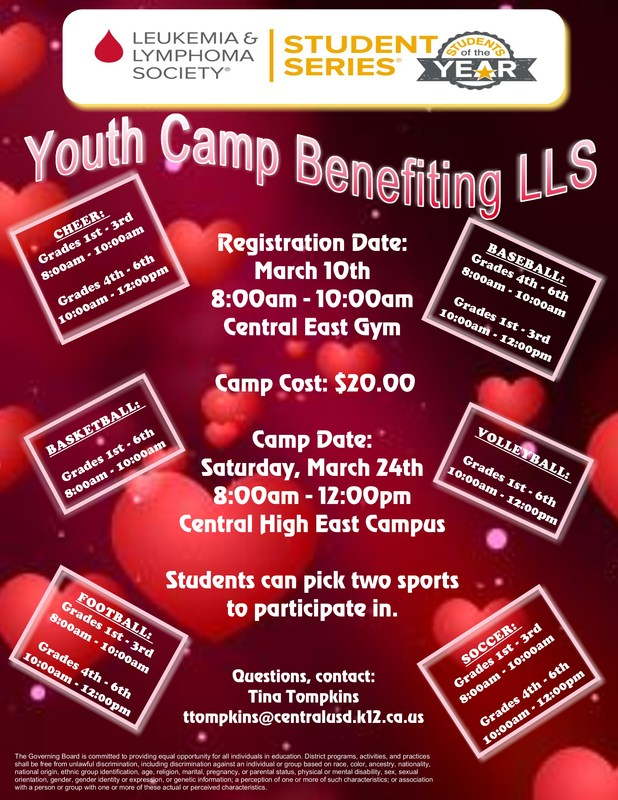 Youth Camp Flier