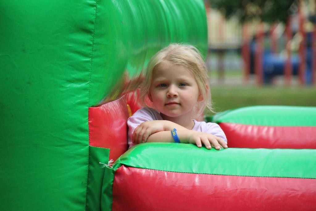 Student in the Bounce House