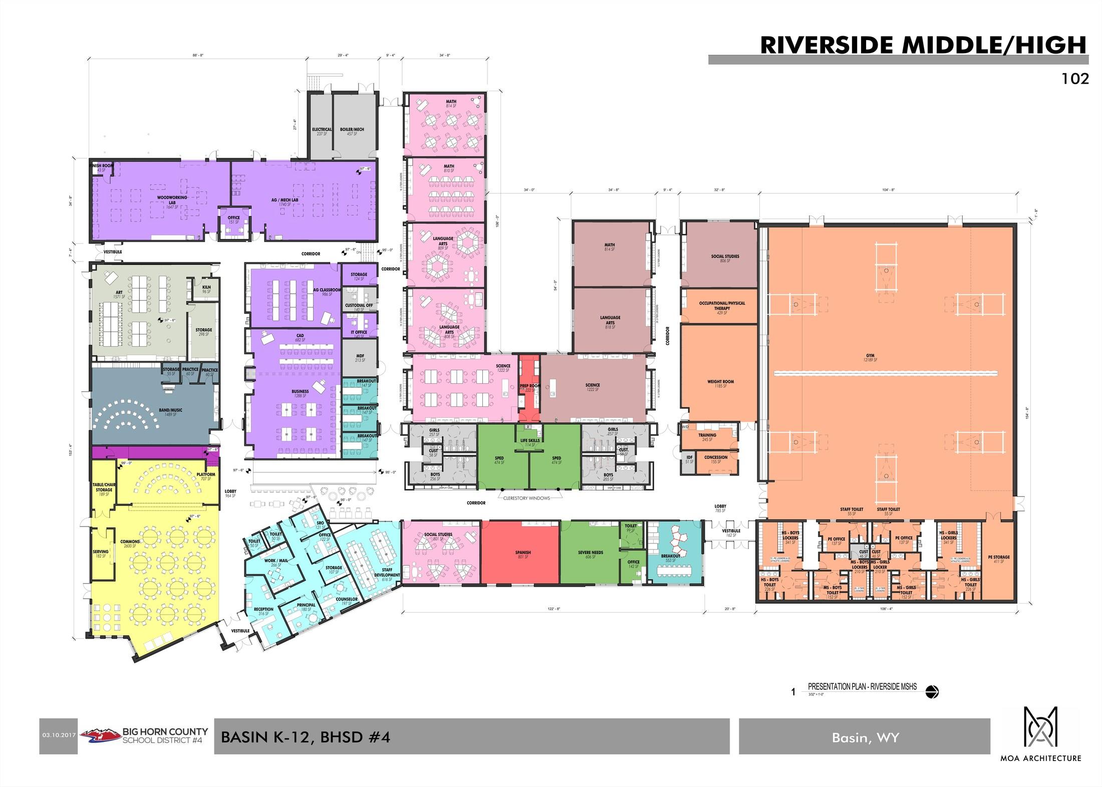 Middle & High School Floor Plans
