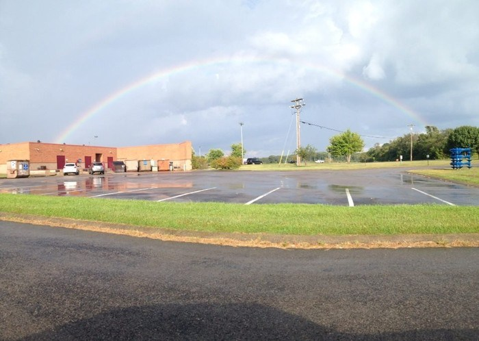 Rainbow Over the Rockets