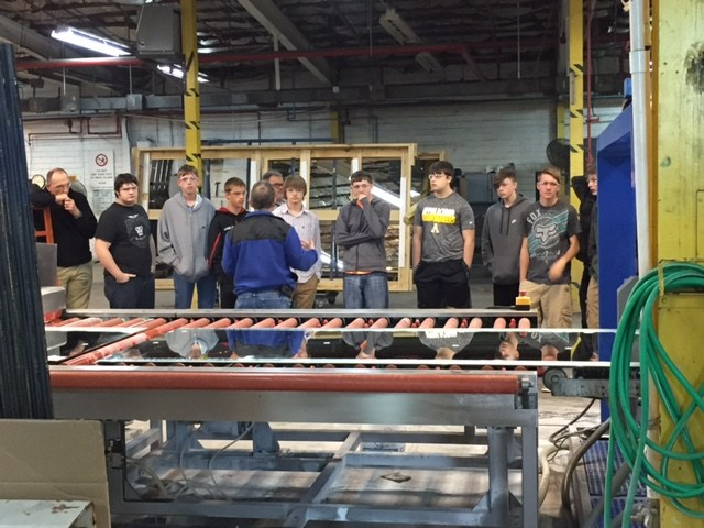 East Wilkes High Students Tour Gardner Glass