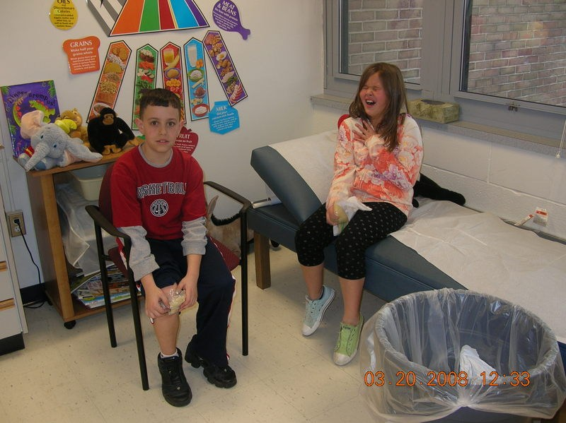 Image of students in Nurse office