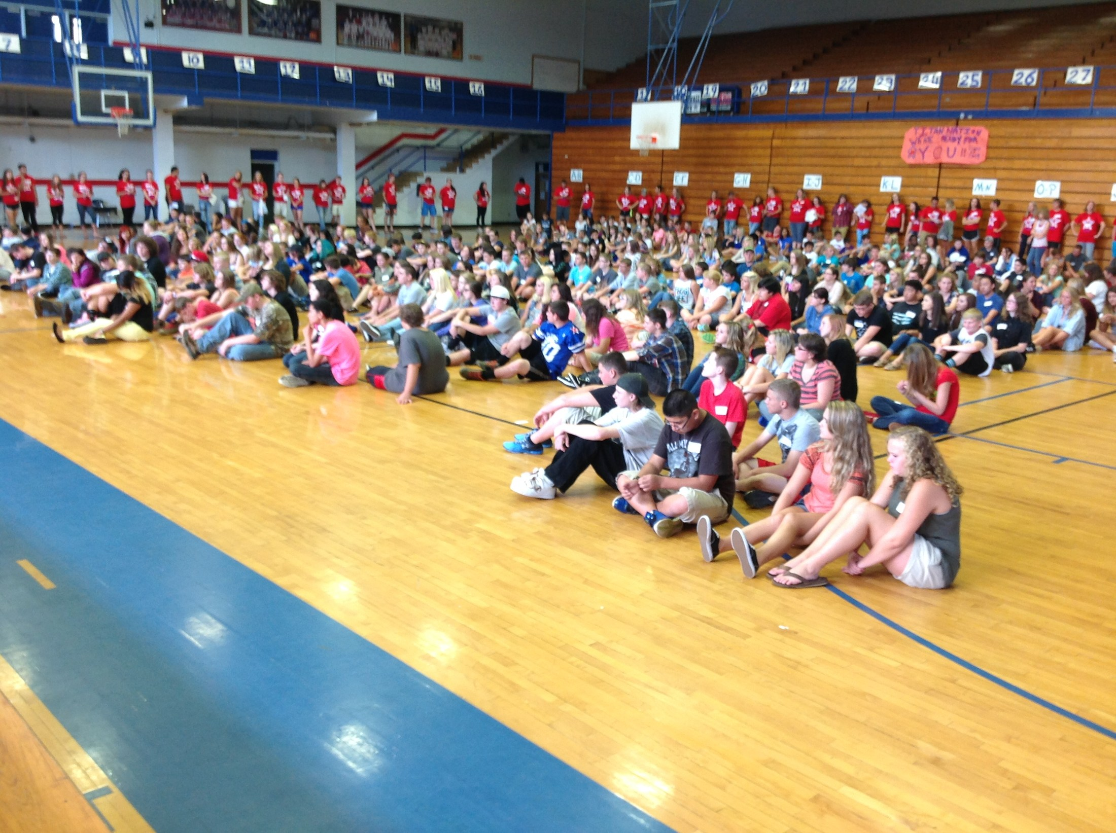 Link Crew Leaders helping to ease the transition for Freshman-Freshman Orientation