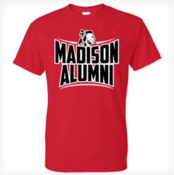 red alumni t-shirt