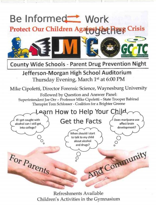 County Wide- Parent Drug Prevention Night Thumbnail Image