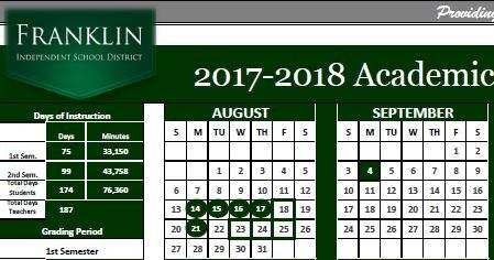 2017-2018 School Calendar Thumbnail Image
