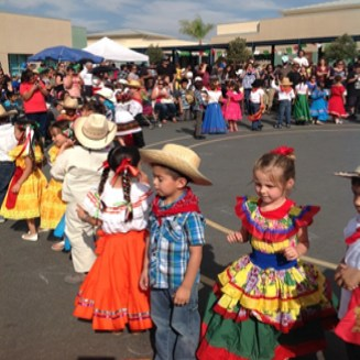 Dual Language Immersion Program includes kinder dancing to traditional Mexican music.