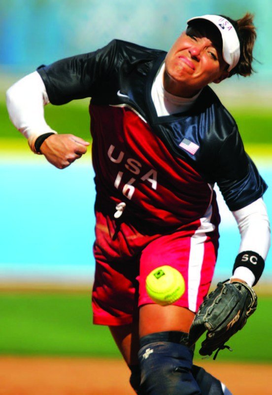 Lisa Fernandez Throws the First Pitch at the July 20th LA Dodger Game Thumbnail Image