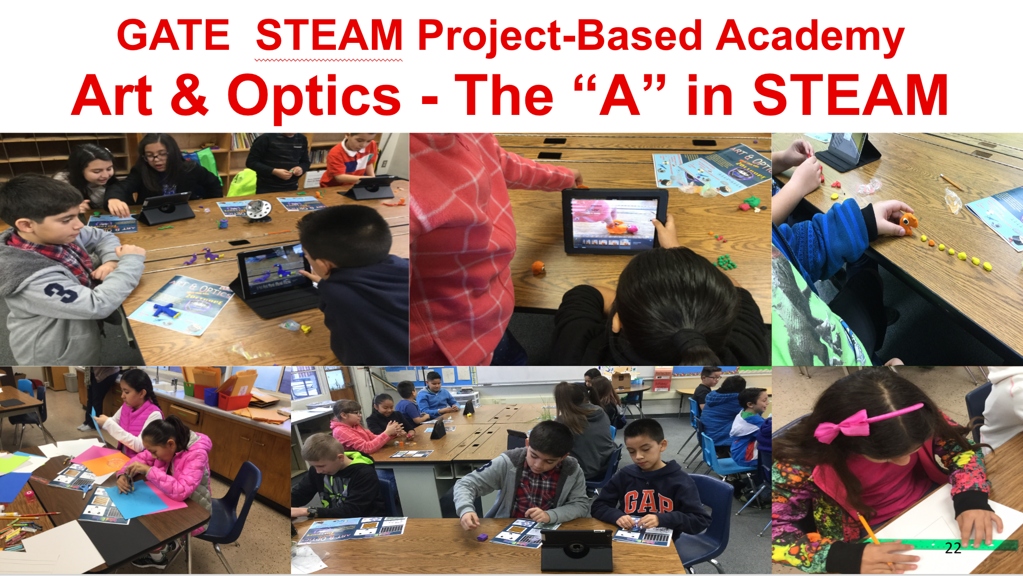 Project-based Academy showing art and optics.