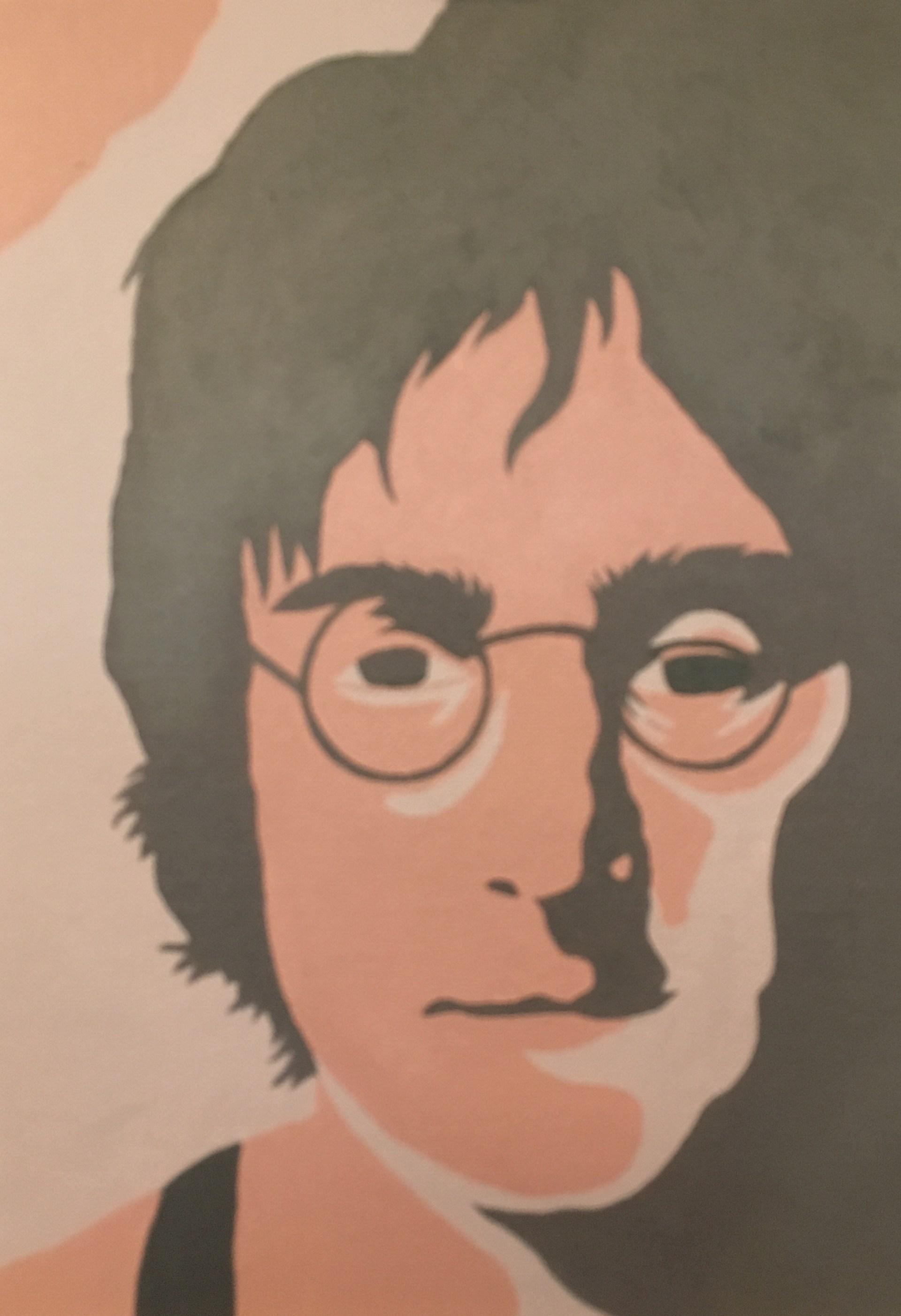 Student Painting John Lennon