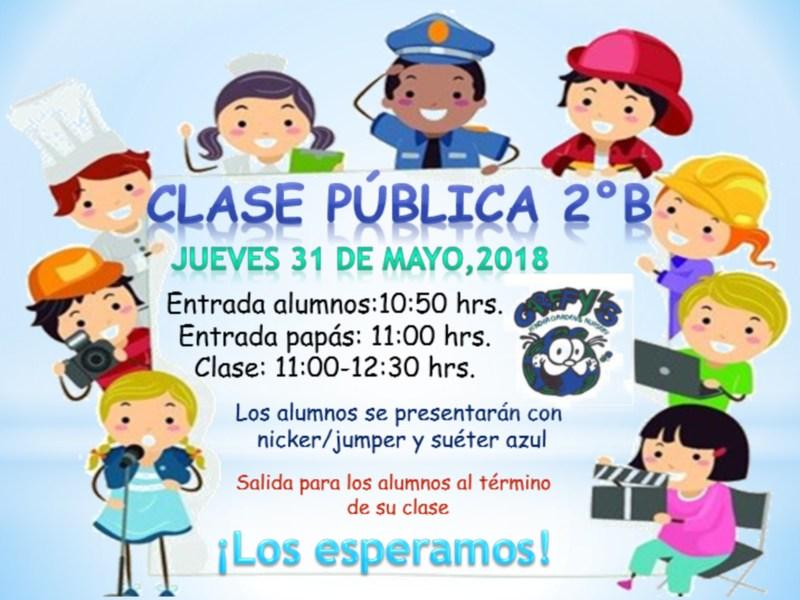 Invitación Clase Pública 2ºB Preescolar Featured Photo