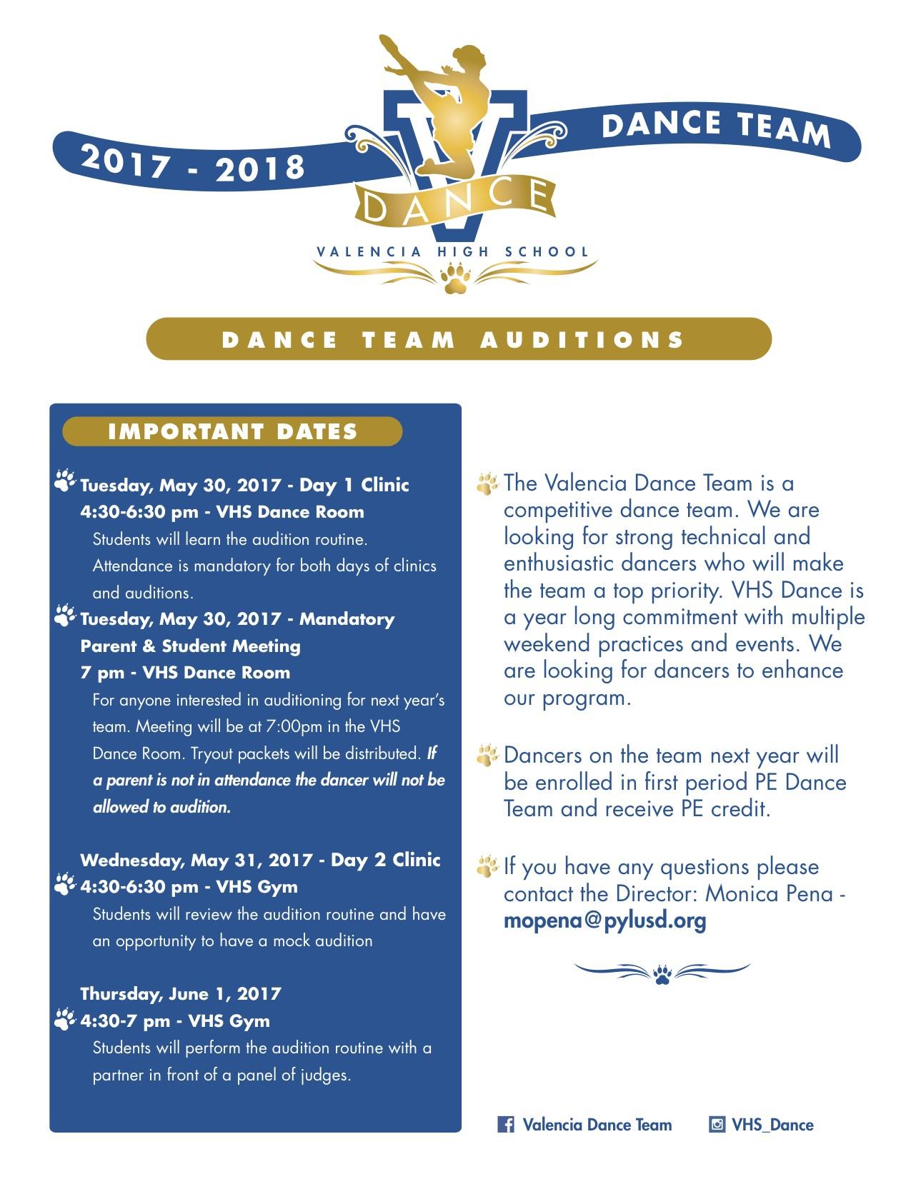 Dance Team Flyer