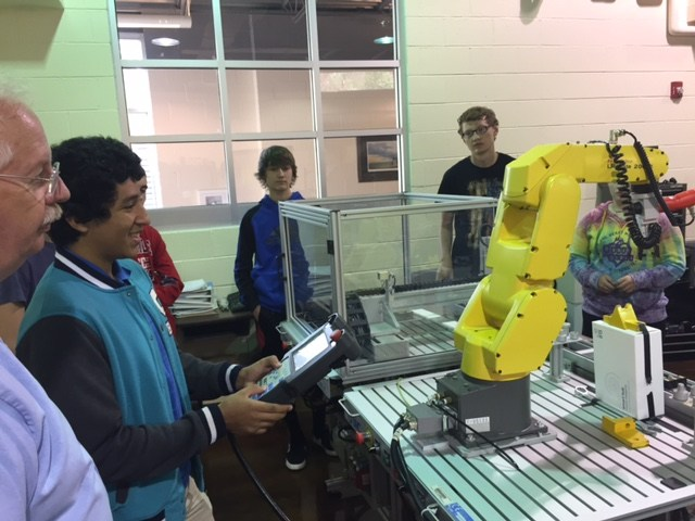 Students Participating in Advanced Manufacturing & STEM Awareness Week
