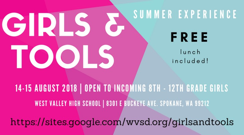 Girls and Tools flyer of information