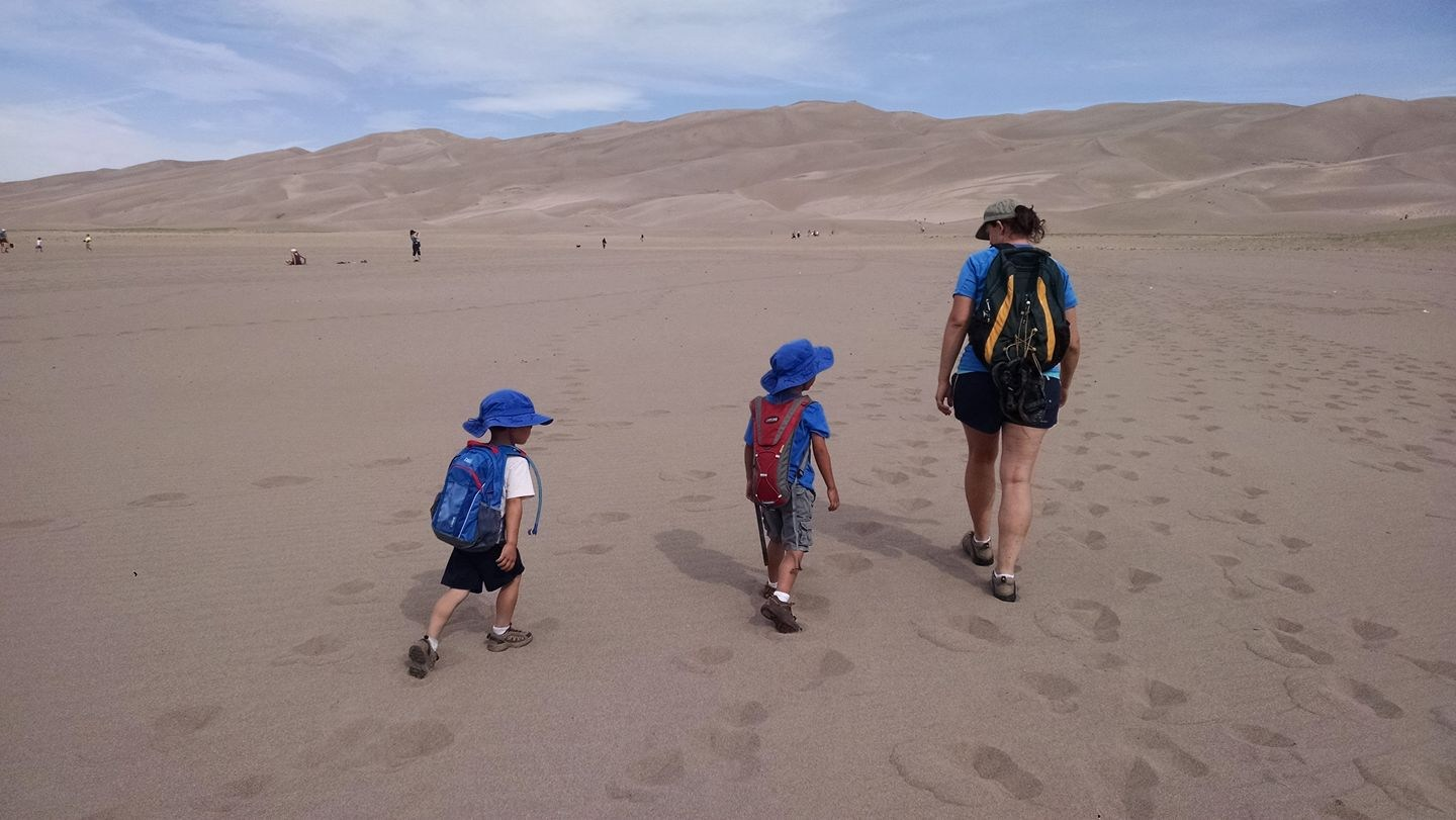 Hiking at Sand Dunes National Park