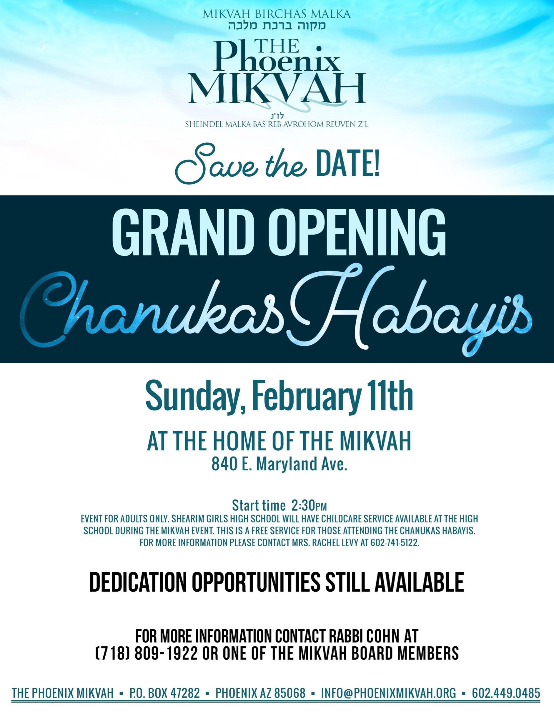 Mikvah Grand Opening